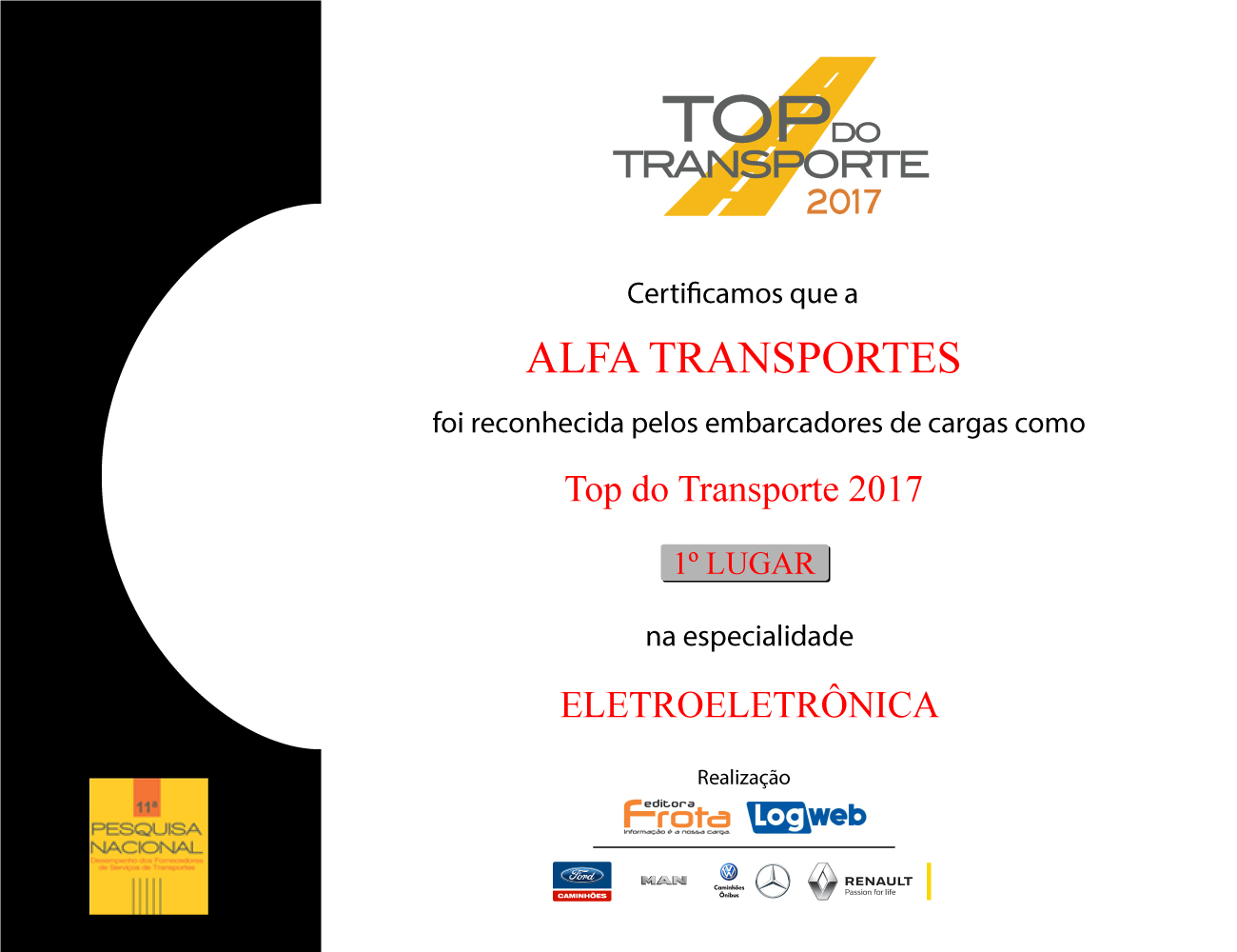 Premio Top do Transporte 2017